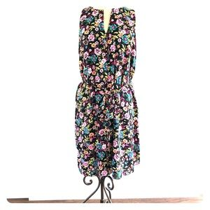 Large Banana Republican floral layered dress NWT